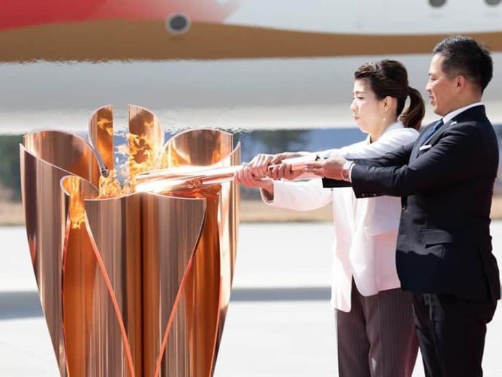 Llama olímpica llega a Japón pese a COVID-19