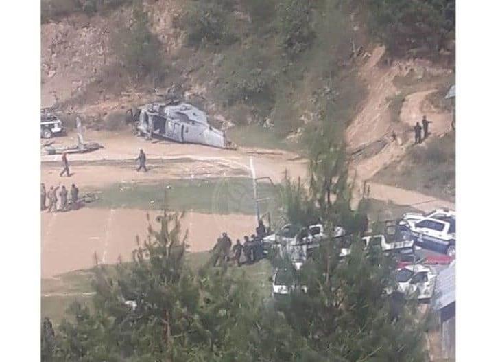 Helicóptero de Semar se accidenta en Tehuipango