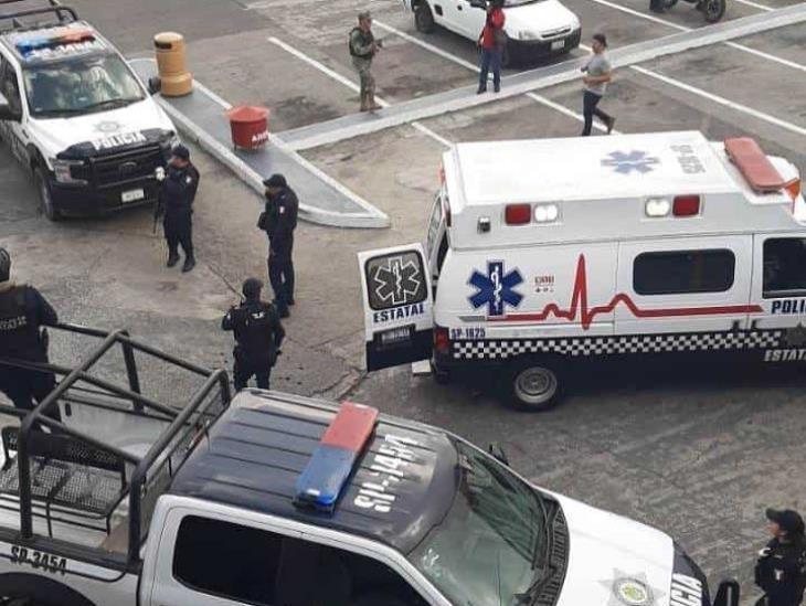 Persecución en centro comercial de Xalapa deja una persona lesionada