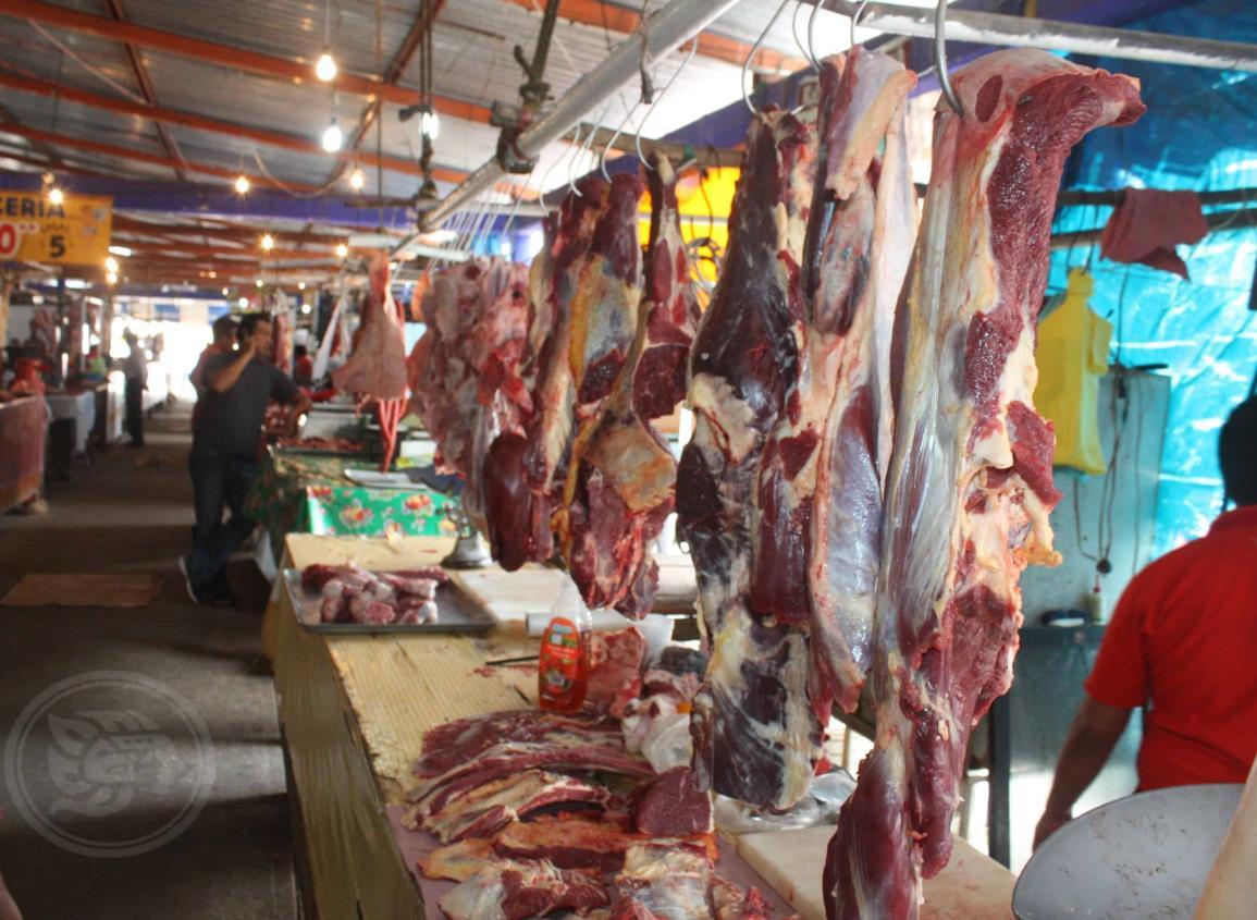 Se desploma la venta de la carne roja en Agua Dulce