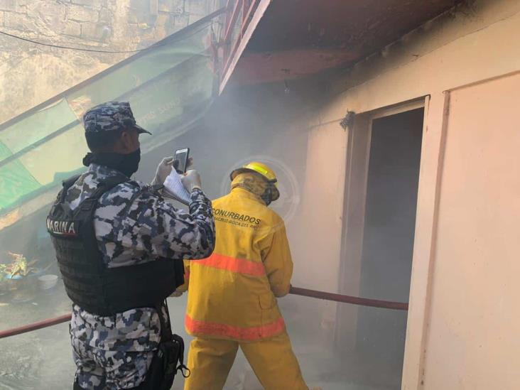 Se incendia bodega en Boca del Río