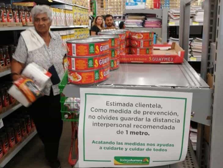 Supervisan que comercio de Veracruz cumpla con seguridad sanitaria