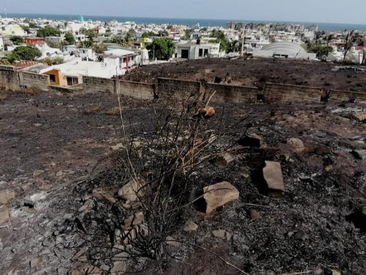 Ardió Coatza durante el fin de semana; PC atendió más de 10 incendios