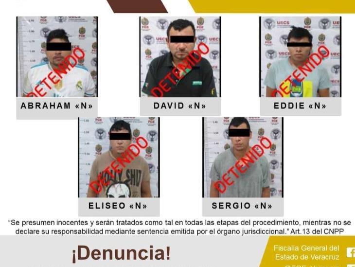 Detiene UECS a cinco probables secuestradores