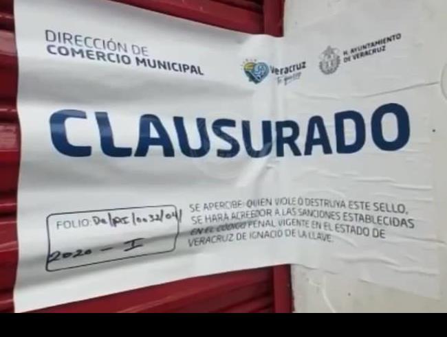 Clausuran bares de Veracruz tras no seguir lineamientos por contingencia