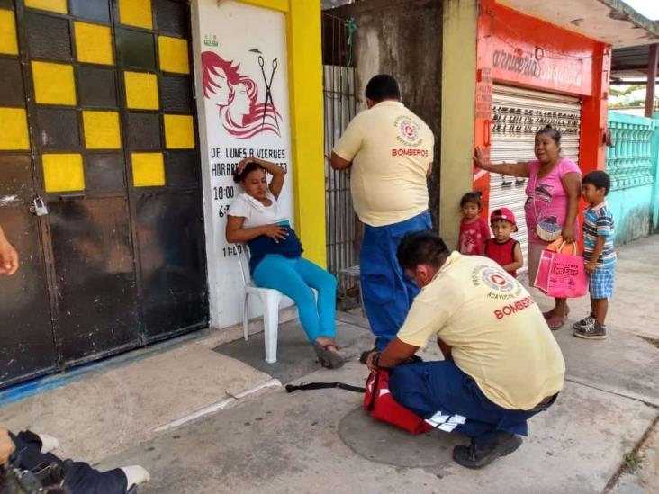 Indigente agrede a una joven embarazada en Acayucan
