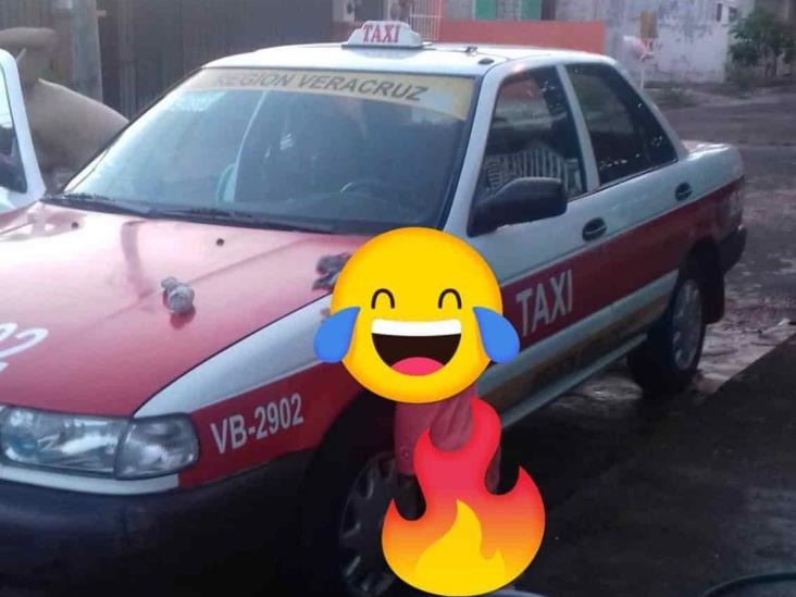 Golpean, asaltan y despojan a taxista de su unidad en calles de Veracruz