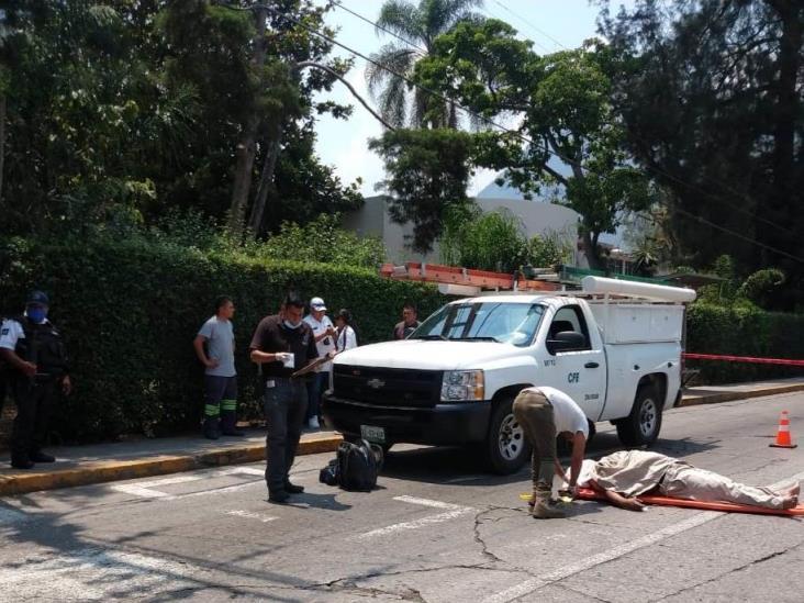 Trabajador de CFE muere al recibir descarga eléctrica en Orizaba