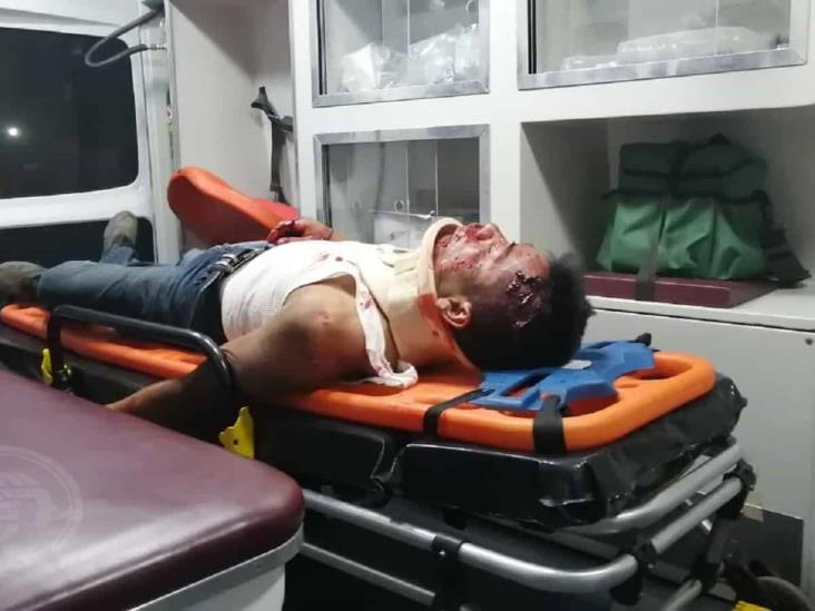 Tres motociclistas sufren accidentes en Acayucan