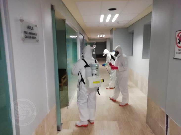 Sanitizan unidades médicas del ISSSTE de Veracruz para enfrentar COVID-19