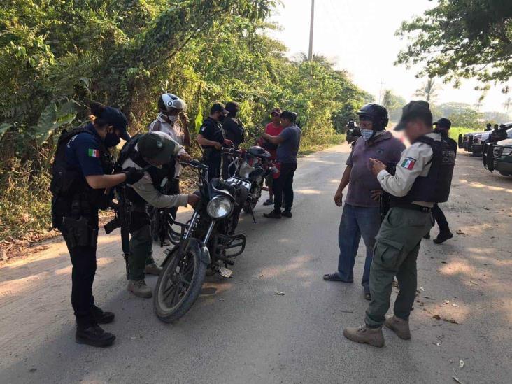 Despliega Seguridad Pública operativo preventivo en Agua Dulce