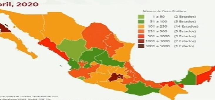 COVID-19 en México: mil 221 muertos y 12 mil 872 contagios