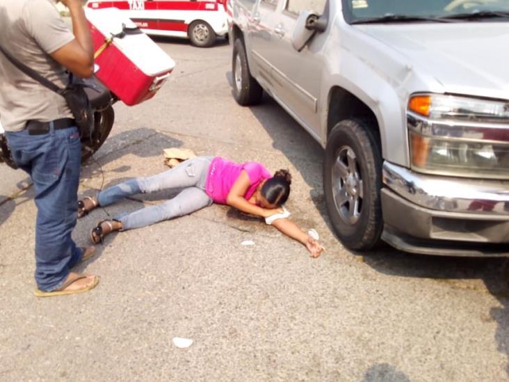 Colisión dejo una mujer lesionada en Minatitlán