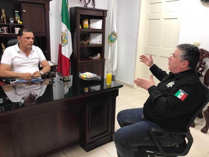 En intensa gira, titular de SSP, se reunió con alcaldes y encabezó operativos