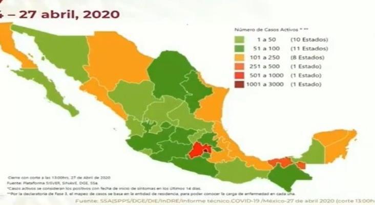COVID-19 en México: mil 434 muertos y 15 mil 529 casos