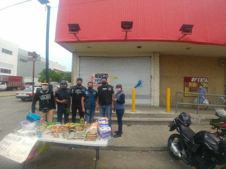 Club Forasteros instalan centro de acopio en Coatzacoalcos