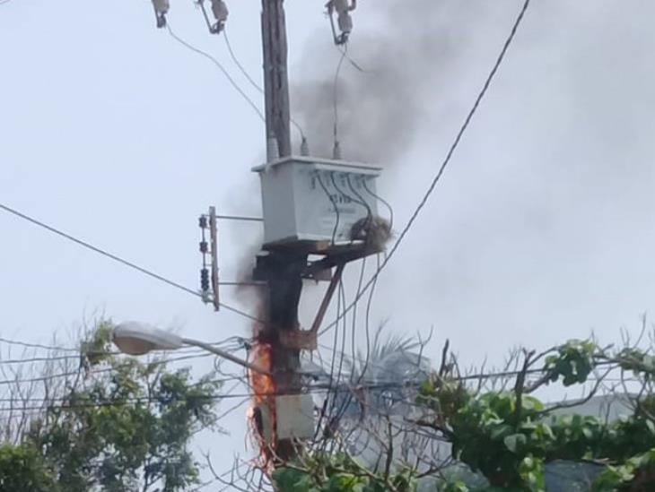 Fallan transformadores en Coatzacoalcos por intenso calor