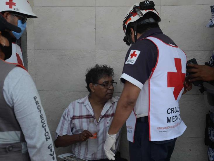Se registra volcadura en calles del centro de Veracruz