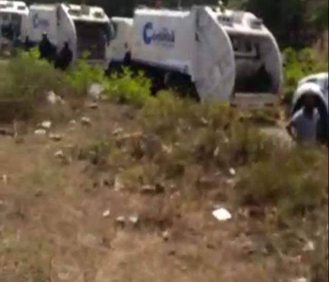 En Aquila impiden que Alcaldía de Córdoba tire ilegalmente toneladas de basura