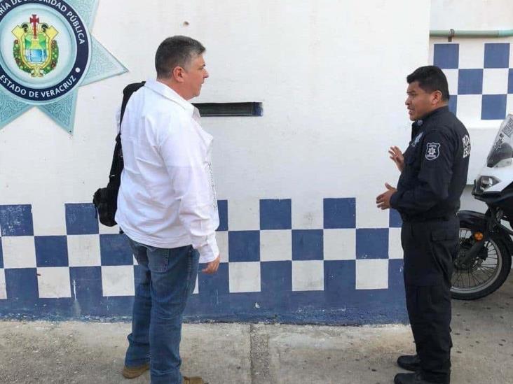 Supervisa titular de SSP instalaciones de policía en sur de Veracruz
