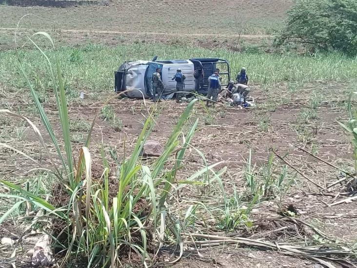 Se accidenta personal de Semar en Tezonapa, reportan cuatro lesionados