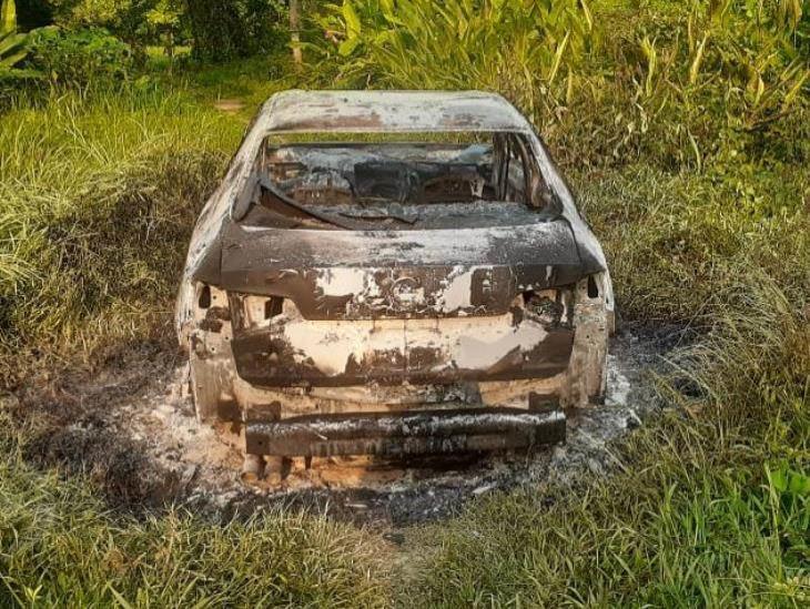 Encuentran cuerpo calcinado dentro de auto en zona rural de Coatzacoalcos