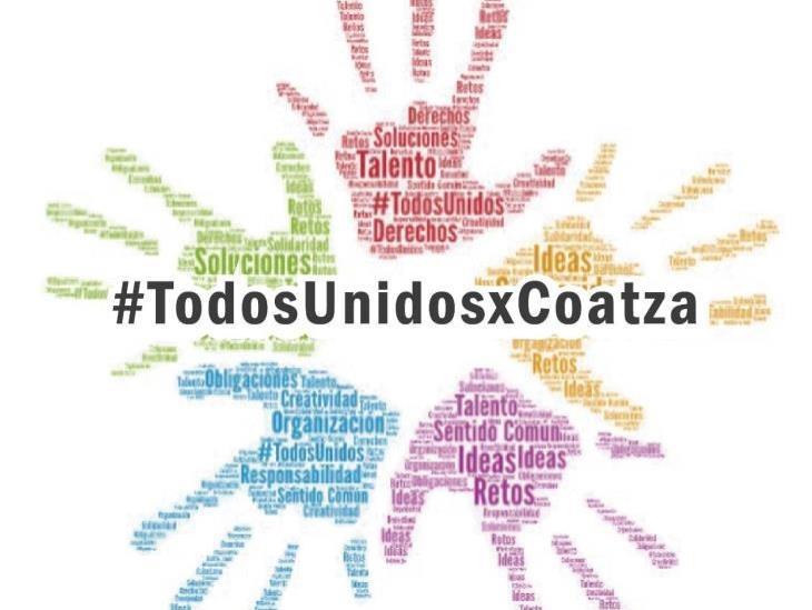 """""""Todos Unidos X Coatza"""" surge ante crisis por Coronavirus"""