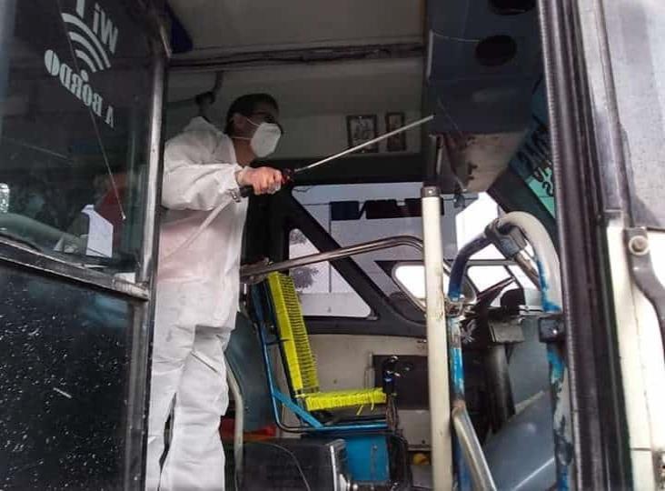 Sanitizan más de 2 mil unidades de transporte público en Veracruz