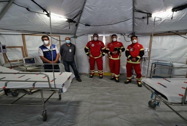 Instalan en INER hospital de campo para 50 pacientes de Covid-19