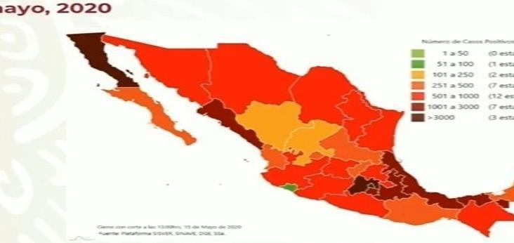 COVID-19 en México: 45 mil 032 casos positivos y 4 mil 767 muertes