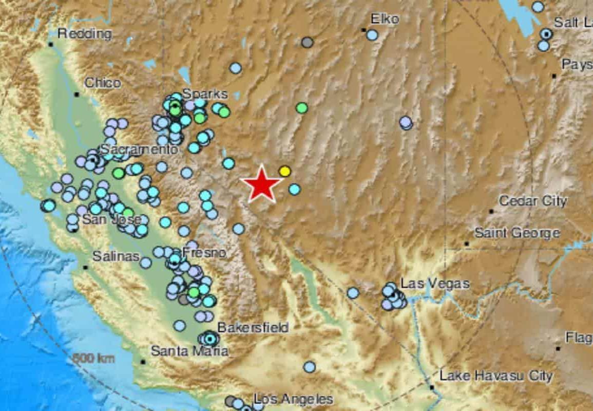 Sismo de magnitud 6.4 sacude Nevada y California, en EU
