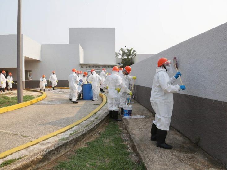 Extienden sanitización en diversos puntos de Coatzacoalcos