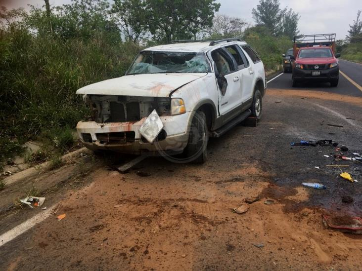 Madre e hijo se accidentan en carretera de Rodríguez Clara