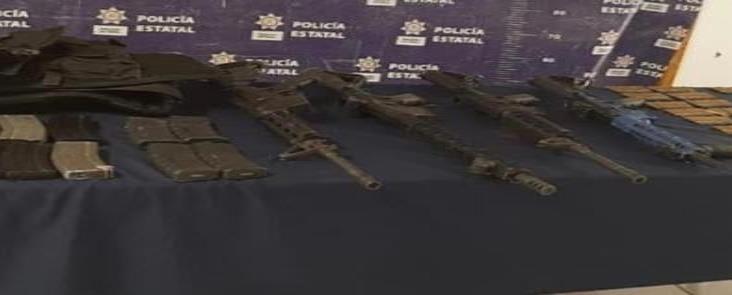 Captura SSP a 4 presuntos integrantes del CJNG con despensas en La Perla