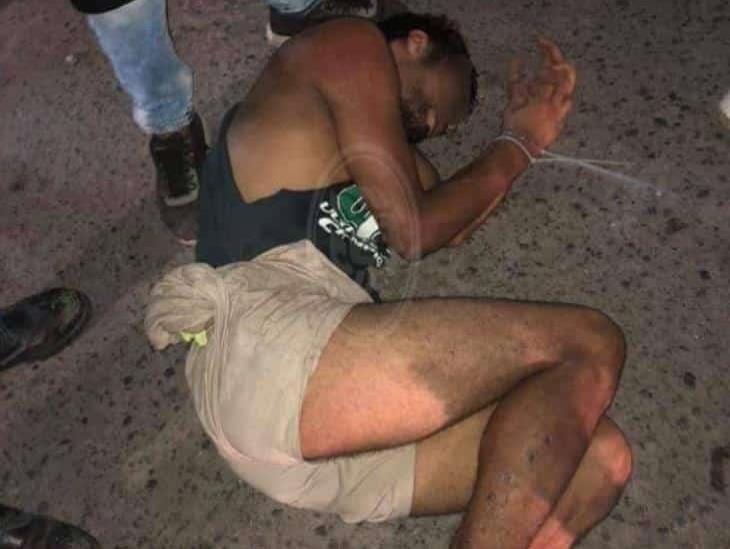 Habitantes de la ciudad de Veracruz capturan a presunto ladrón