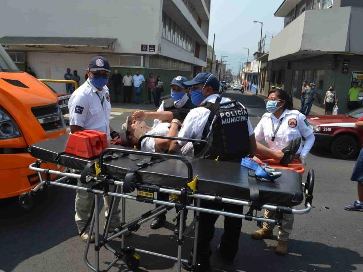 Empresario Carlos Castelán provoca accidente;  una mujer policontundida