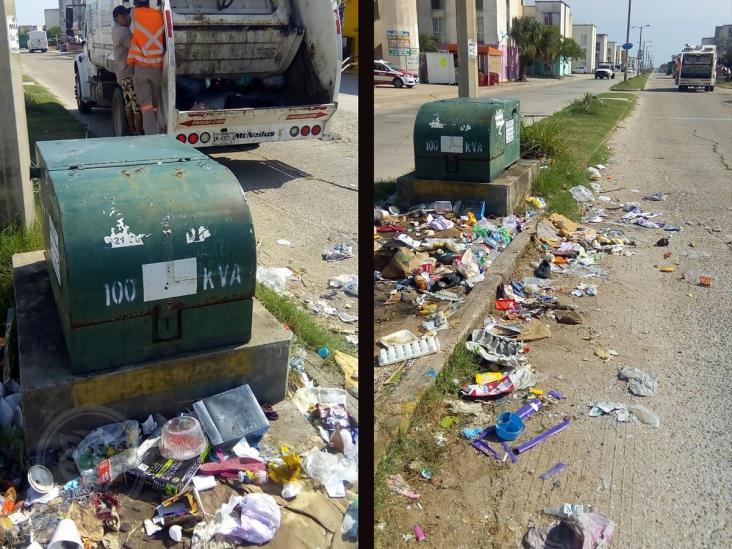 Ciudadanía no respeta los días de recolección de basura