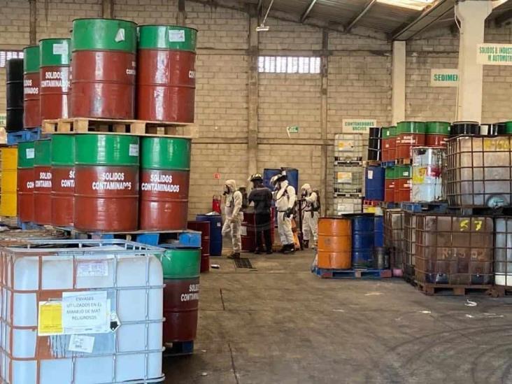 Derrame de ácido en empresa de Veracruz moviliza a PC
