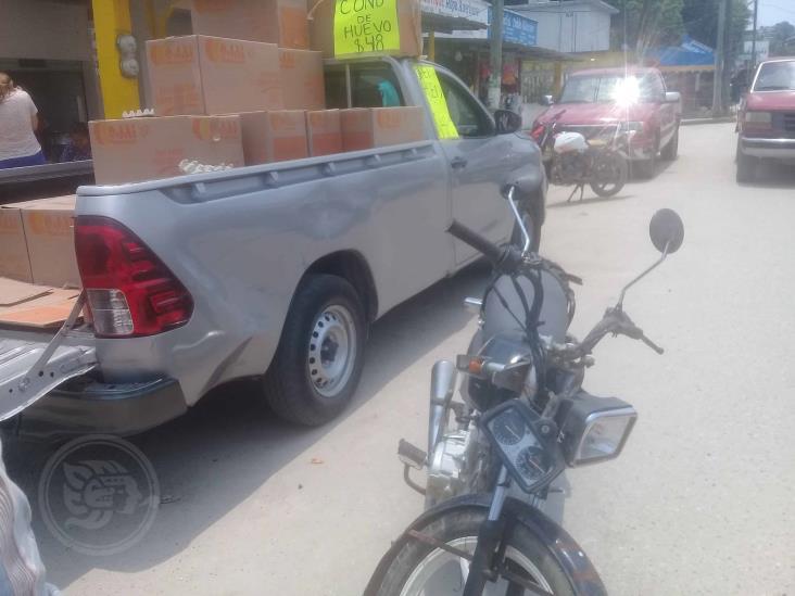 Provoca accidente y se da a la fuga en Moloacán