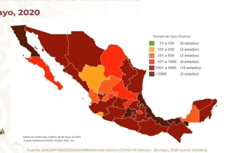 COVID-19 en México: 8 mil 134 muertes y  74 mil 560 casos positivos