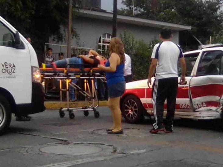 Dos personas lesionadas tras choque en Orizaba