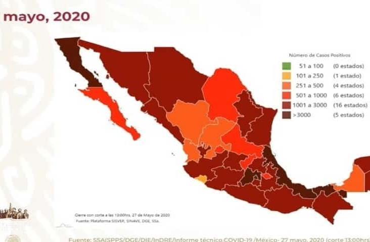 COVID-19 en México: 8 mil 597 muertos y 78 mil 23 casos  positivos