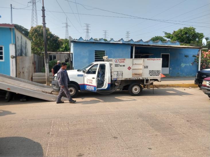 En Mundo Nuevo, recuperan camionera repartidora de gas lp