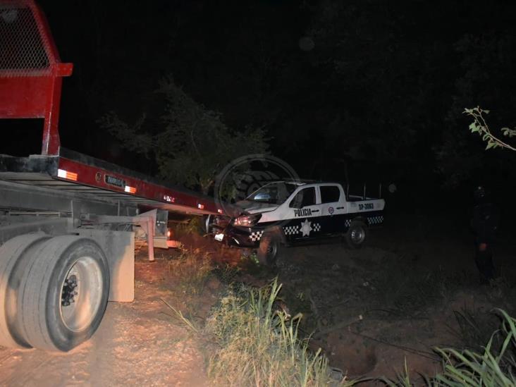 Elementos de SSP se accidentan durante persecución en Acayucan