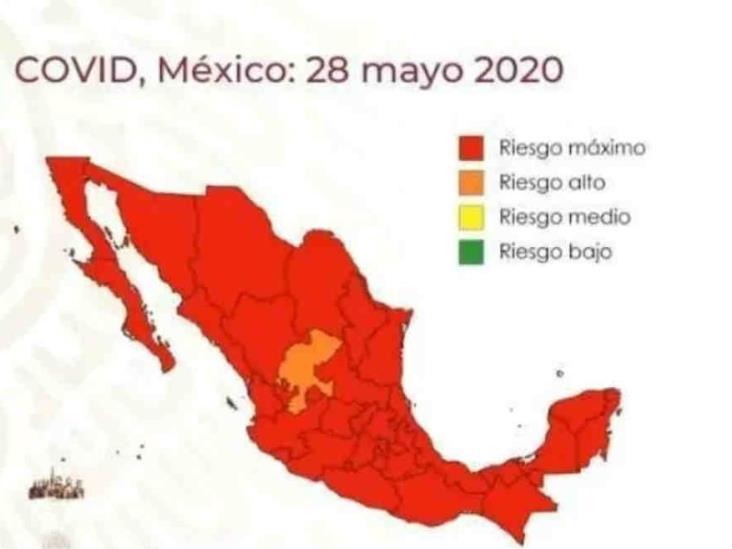 Salvo Zacatecas, todo México en riesgo máximo por Covid-19