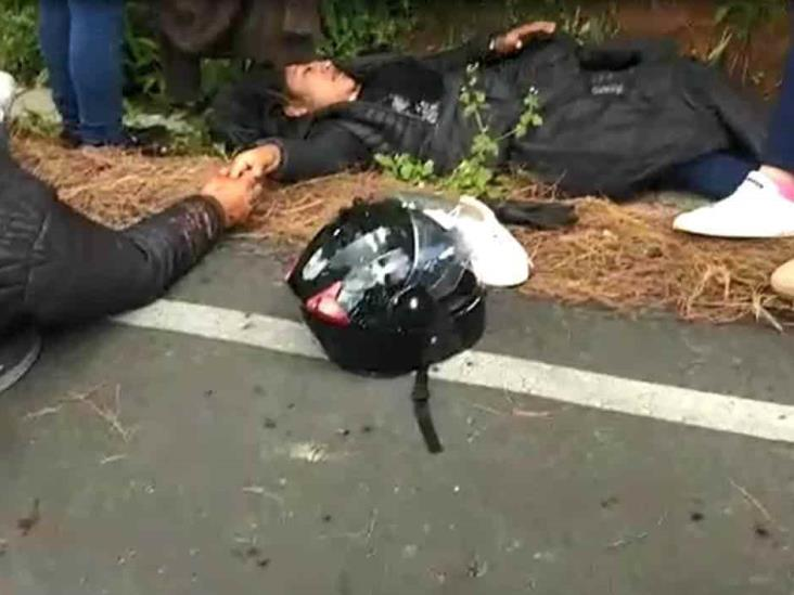 Atacan a balazos a motociclistas en faldas del Pico de Orizaba