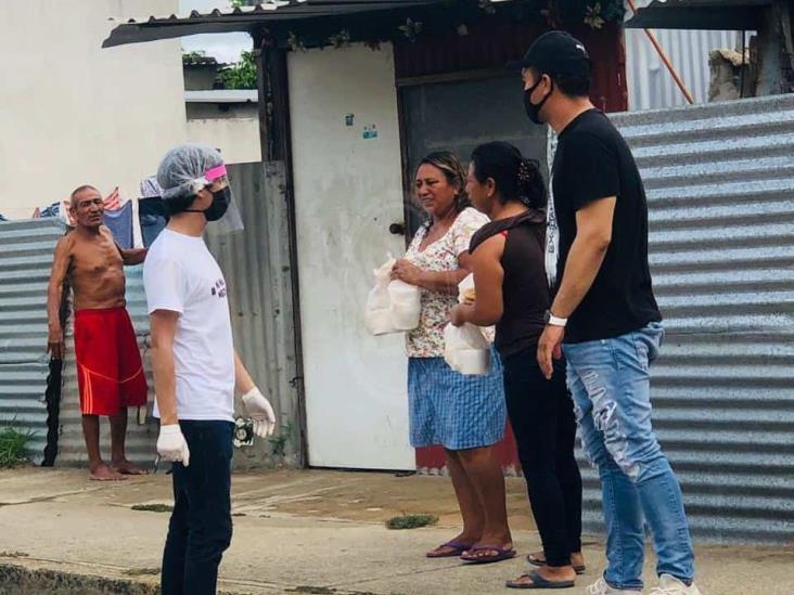 Por el Coatza Donde Crecí donó 100 comidas a vendedores ambulantes