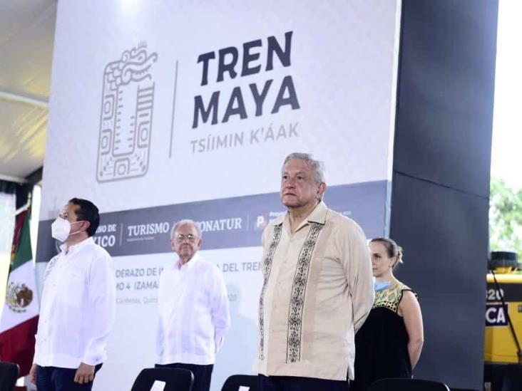 AMLO da banderazo a las obras del Tren Maya