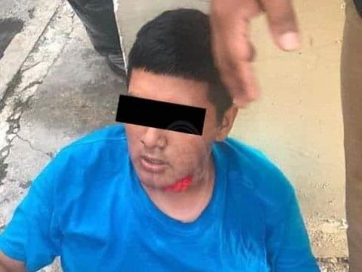 Atrapan a ladrón presuntamente menor de edad en Veracruz