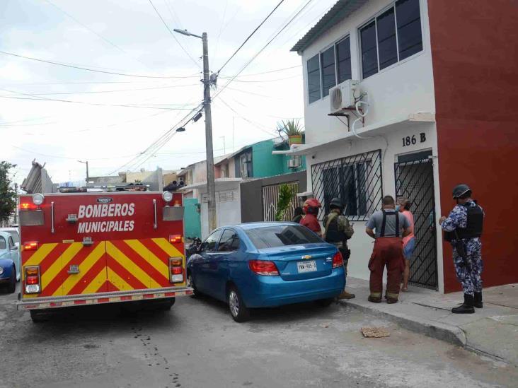 Se registra incendio al interior de vivienda de Veracruz